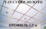 Поперечный профиль 1,2м СУПЕР-ЗОЛОТО Т-15 Албес