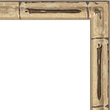 """Зеркало в багетной раме """"Серебро бамбук"""""""