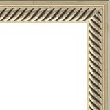 "Зеркало в багетной раме ""Витое серебро"""