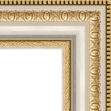 """Зеркало в багетной раме """"Золотые бусы на серебре"""""""