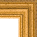 """Зеркало с гравировкой в багетной раме """"Состаренное золото"""""""