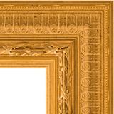 """Зеркало с гравировкой в багетной раме """"Сусальное золото"""""""