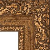 """Зеркало с гравировкой в багетной раме """"Виньетка бронзовая"""""""