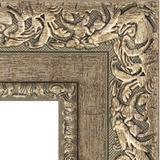 """Зеркало с гравировкой в багетной раме """"Виньетка античное серебро"""""""