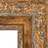 """Зеркало с гравировкой в багетной раме """"Виньетка античная бронза"""""""