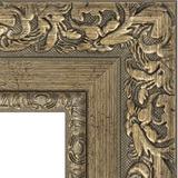 """Зеркало с гравировкой в багетной раме """"Виньетка античная латунь"""""""
