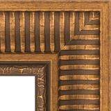 """Зеркало с гравировкой в багетной раме """"Золотой акведук"""""""