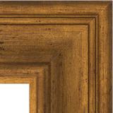 """Зеркало с гравировкой в багетной раме """"Травленая бронза"""" 99 мм"""