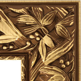 """Зеркало с гравировкой в багетной раме """"Византия золото"""""""