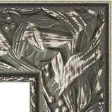 """Зеркало с гравировкой в багетной раме """"Византия серебро"""""""