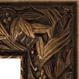 """Зеркало с гравировкой в багетной раме """"Византия бронза"""""""