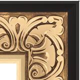 """Зеркало с гравировкой в багетной раме """"Барокко золото"""""""