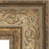 """Зеркало с фацетом в багетной раме """"Виньетка античная бронза"""" 109 мм"""