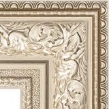 """Зеркало с гравировкой в багетной раме """"Виньетка серебро"""""""