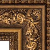 """Зеркало с гравировкой в багетной раме """"Виньетка состаренная бронза"""""""