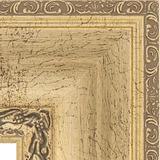 """Зеркало с фацетом в багетной раме """"Состаренное серебро с орнаментом"""" 120 мм"""