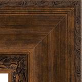 """Зеркало с гравировкой в багетной раме """"Состаренная бронза с орнаментом"""" 120 мм"""