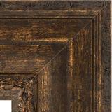 """Зеркало с гравировкой в багетной раме """"Состаренное дерево с орнаментом"""" 120 мм"""