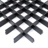 Потолок Грильято Cesal 3305 Черный (50х50 мм)