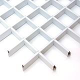 Потолок Грильято Cesal 3306 Белый матовый (75х75 мм)