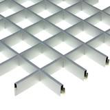 Потолок Грильято Cesal 3313 Металлик (100х100 мм)