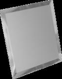 Зеркальная плитка квадратная с фацетом 10 мм (серебро/серебро матовое)
