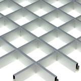 Потолок Грильято Cesal 3313 Металлик (50х50 мм)