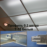 Поперечный профиль 0,3м БЕЛЫЙ Т-15 Албес