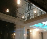 Зеркальный потолок Серебро, Бронза, Графит (595х595 мм) с фацетом 20 мм