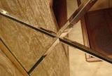 Зеркальный потолок Серебро, Бронза, Графит (295х295 мм) с фацетом 20 мм