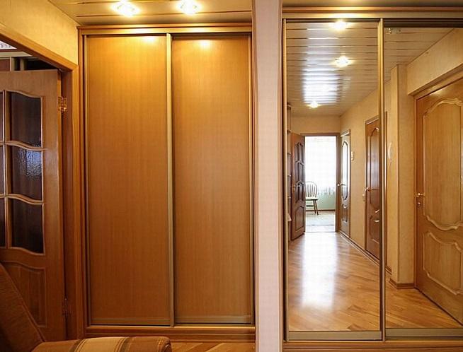 Встроенный шкаф с раздвижными дверьми своими руками 55