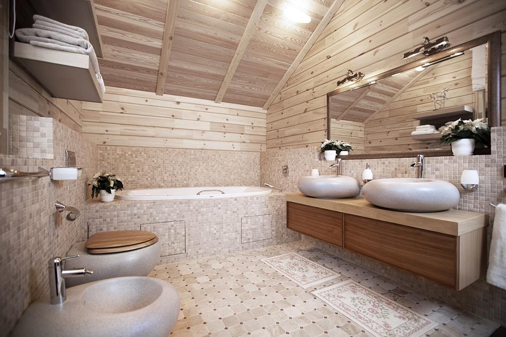 Интерьер ванны в доме