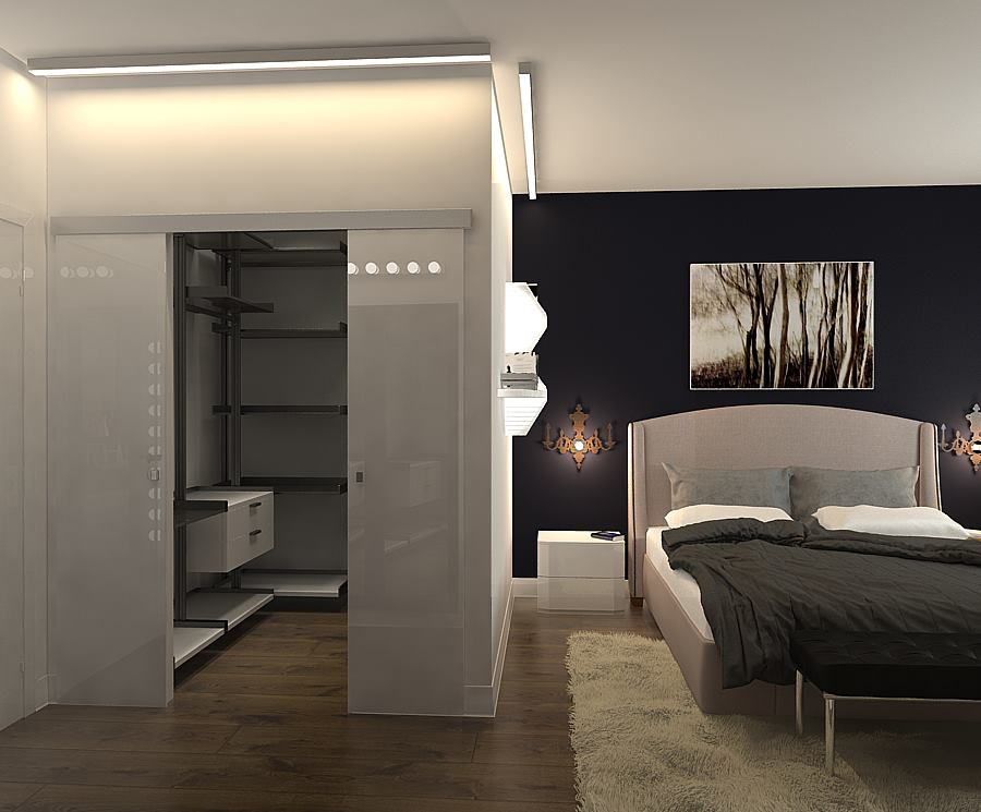 Гардеробные в спальне дизайн